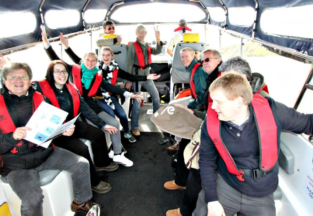 """RIBTUR: Passasjerer om bord i """"North Irish Diver"""" safari-RIB."""