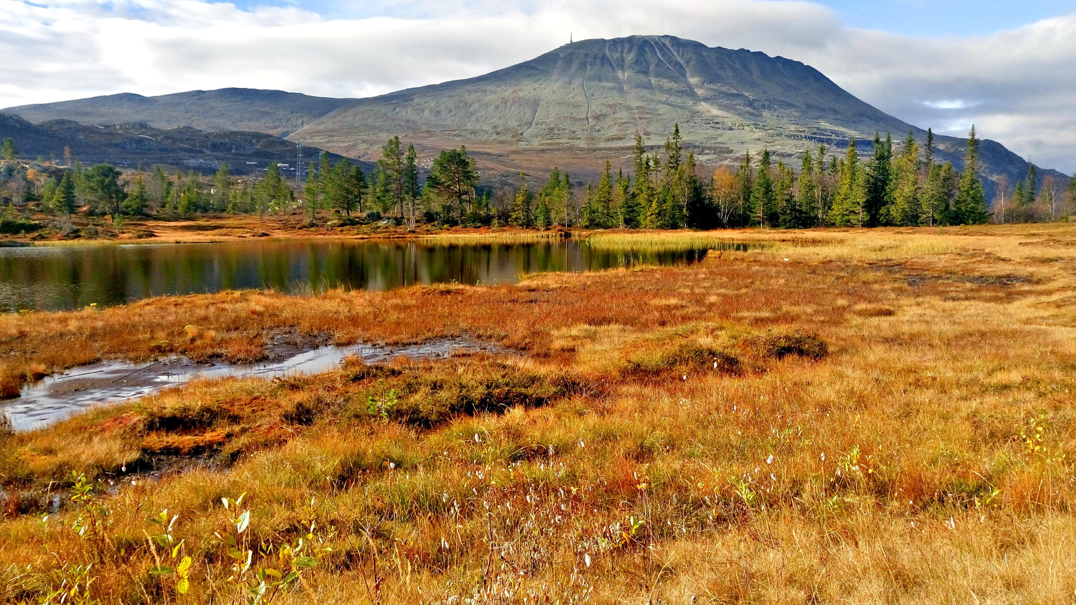 """HØSTKLEDD: Gaustatoppen i september er et vakkert syn. Om ikke lenge vil toppen dekkes av den første """"melisen""""."""