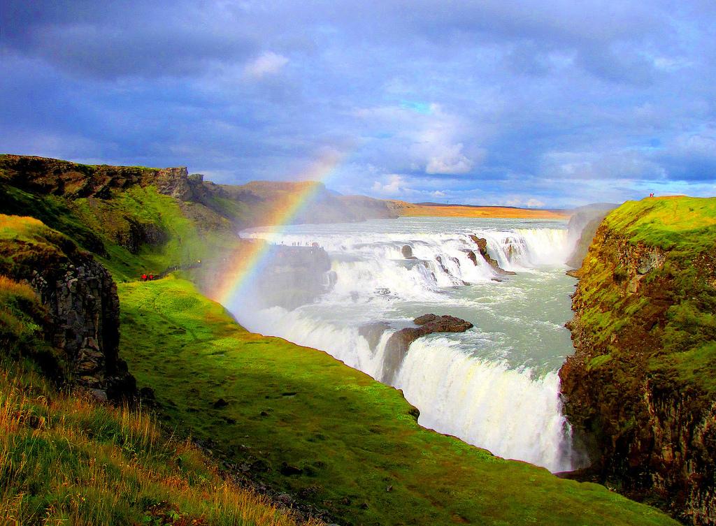 GULLFOSS: Islands svar på Iguazu, Niagar og Victoria Falls. Foto: O Palsson.