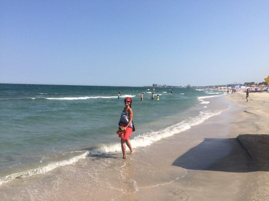 Beach mamaia Black Sea